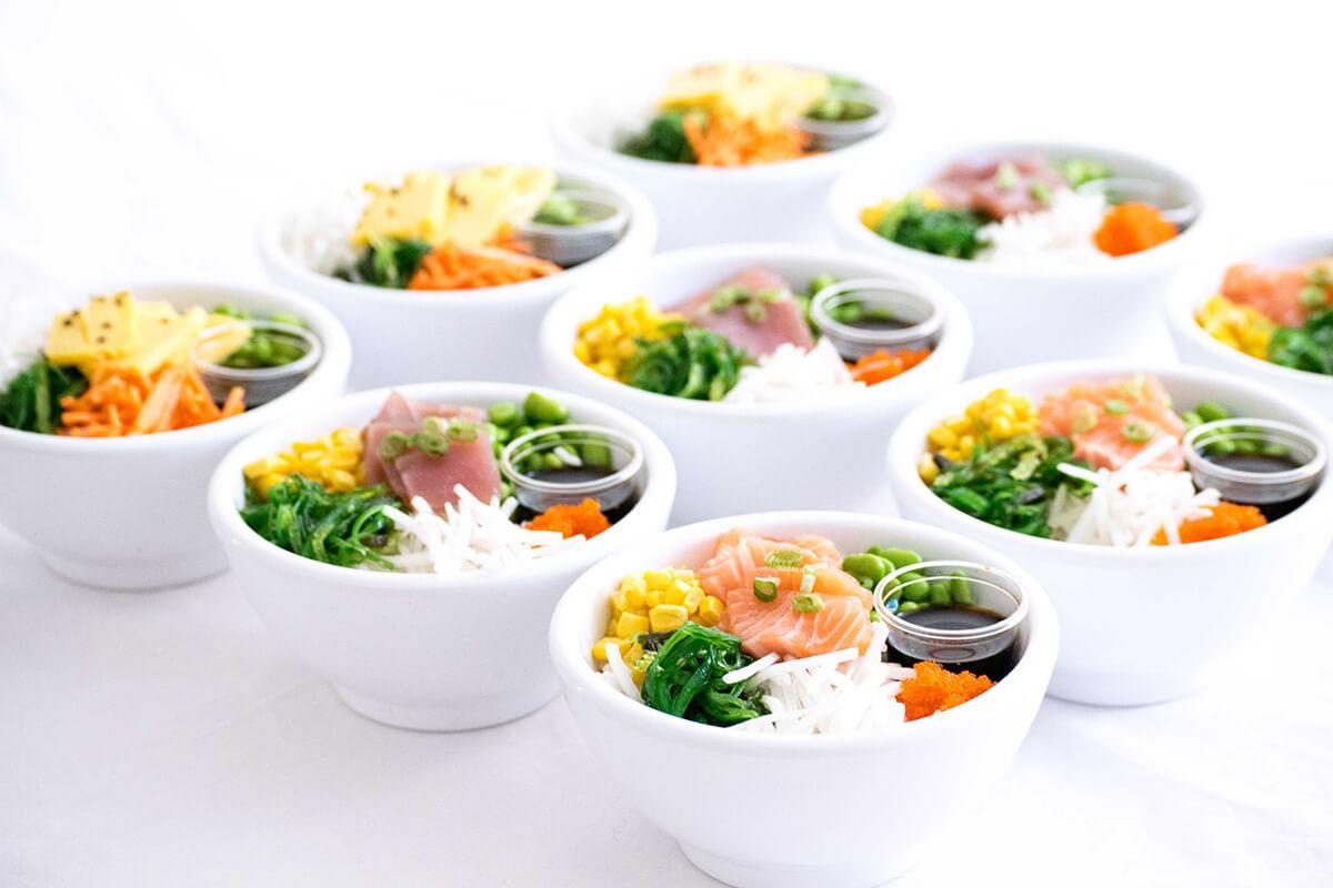 poké bowl catering